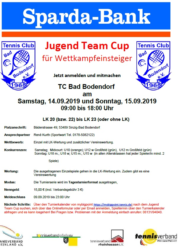 2019 Jugend Cup TC Bad Bodendorf